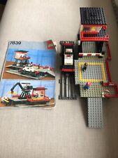 VINTAGE 80s LEGO TRAIN 12 V 7839 Car Transport Depot With Original Instruction