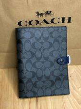 Coach Notebook in Charcoal Signature Canvas