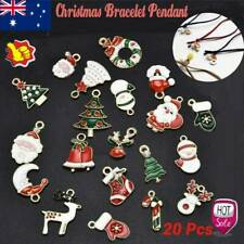 20 Alloy Enamel Mixed Christmas Charms Pendant Decor Craft DIY Making Jewelry AU