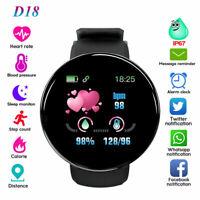D18 Smart Watch Heart Rate Blood Pressure Health Fitness Sport Tracker Wris S4O0