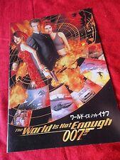 2000 Vintage! 007 James Bond THE WORLD IS NOT ENOUGH / Japanese Cinema Program