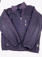 Patagonia Synchilla Jacket Fleece Coat Men's large black full zip outdoors Hu