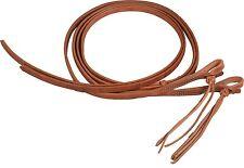 Western leather 5/8 x 8 split reins w/ rattlesnake ends custom quality USA H5885