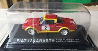 "DIE CAST "" FIAT 124 ABARTH RALLYE DE PORTUGAL - 1974 "" RALLY DEA SCALA 1/43"