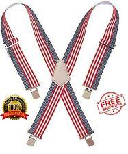 Elastic Work Suspenders Mens New Heavy Duty End Suspenders Back Clip