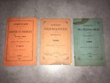 HORAIRE DES PLEINES MERS / MAREES AU PORT DE BORDEAUX 1888 1893 1897 - DC29C