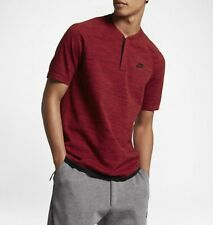 Nike Sportswear Tech Knit Polo Shirt Top Team Red Mens Size Small 846409 677 S