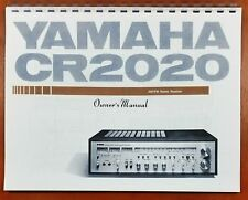 Yamaha CR-2020 Stereo Receiver Owners Manual