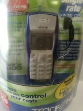 New 2004 Nokia 1100 Wireless Digital Tracfone Cell Phone Blue Sealed In Box Vtg