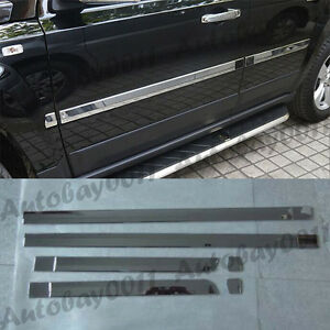 Chrome Side Door Body Molding Trim Cover Protector For Jeep Patriot  2011-2015