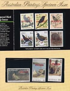 Australia Paintings and New Zealand Birds High Value 'SPECIMEM' overprints
