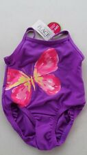THE CHILDREN'S PLACE GIRLS SWIMSUIT, PURPLE W/ BUTTERFLY 6-9 MONTHS - NWT