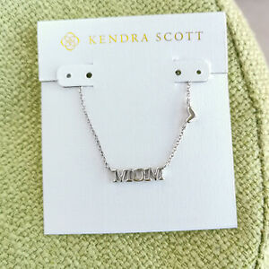 MUST HAVE Kendra Scott Mom Silver Pendant Necklace