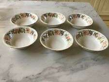 "Six - Paragon China ""Country Lane"" Honeysuckle Pattern - Large Bowls"