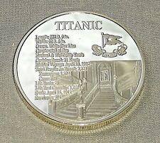 Titanic Silver Stair Case Coin Medal Sea Ship White Star Line New York London UK