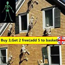 90cm Halloween Luminous Hanging Skeleton Scary Props Outdoor Party Decorations