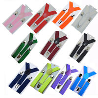 Fashion Children Kids Boy Girls Clip-on Suspenders Elastic Adjustable Braces