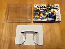 HARVEST MOON Custom Game Box + Box Protector Only For N64
