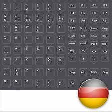 Pegatinas teclado alemán keystick gris oscuro keystick German darkgrey dell Tosh