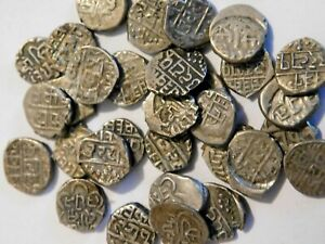X39 ANTIQUE SOLID SILVER INDIAN ? PERSIAN COINS