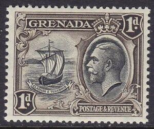 GRENADA 1934-36 SG136a 1d BLACK & SEPIA UNMOUNTED MINT
