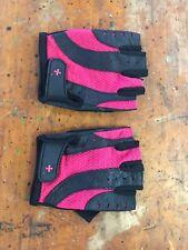 Harbinger Womens Pro Weight Lifting Gloves Size M Black Pink Machine Washable