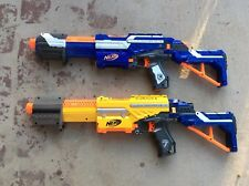 Lot 2 Nerf Alpha Trooper Cs 12 18!blue And Yellow With Shoulder Stocks
