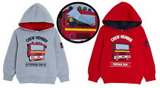 Boys Fireman Sam Hooded Jacket Kids Fleece Hoodie Lift Up Badge Jumper Hoodie