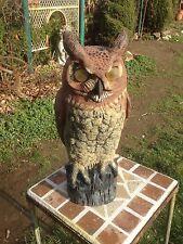 Vintage Dalen Products  Plastic  Horned  Owl Garden Pest Control 16in