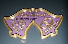 3D Personalised Wedding present Gift Tag / Give away Keepsakes