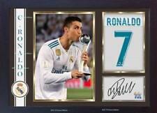 Cristiano Ronaldo signed Autograph Football Memorabilia print photo Framed