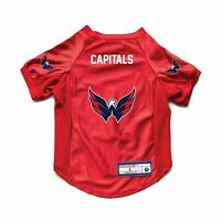 NEW WASHINGTON CAPITALS DOG CAT DELUXE STRETCH JERSEY