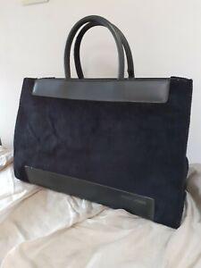 GERRY WEBER Black faux suede/fur Large Tote grab Hand Bag
