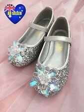 Girls Princess Cinderella Crystal Glitter Shoes Sandals AU seller