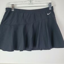 Nike Women's Court Tennis Skirt Size S Black Pleated Dri-Fit Flouncy Golf