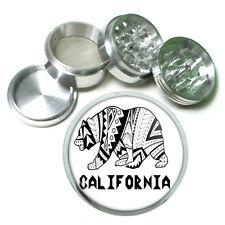 California Republic Bear D6 Aluminum Herb Grinder 63mm 4 Piece Hand Mueller Cali
