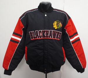 CHICAGO BLACKHAWKS LARGE JACKET G-III GIII NHL HOCKEY STITCH MENS NEW CARL BANKS