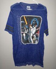 STAR WARS unisex med T shirt classic 1977 logo retro sci-fi Luke & Leah thin tee