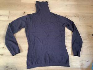 John Smedley Brown Roll Neck Merino Wool Jumper Long Sleeve Medium BNWOT Ladies