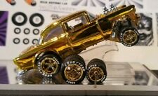 Hot Wheels 55 Chevy GASSER  WHEELS & LONG AXLES ONLY  GOLD