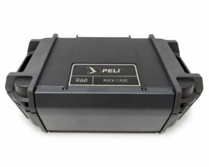 Peli Ruck case R60,Waterproof, Crushproof,Snap in, flexible lid organizer.