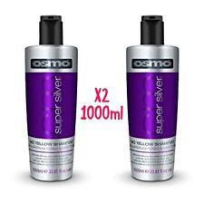 Osmo Super Silver No Yellow Shampoo Greys Sulphate 1000ml X2