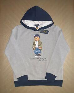 Polo Ralph Lauren Traveler Bear Grey Hoodie XL (18-20 youths)=Men`s M=women`s L