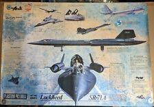 SR-71 Blackbird Action Views Military Airplane Educational Poster - POSTER 24x35