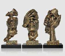 13.3 inches Face Sculpture Statue Abstract Modern Art Deco Figurine
