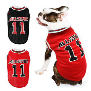 Dog T-Shirt Basketball Clothes Soft Summer Vest for Small Medium Dogs Chihuahua
