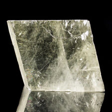 """4.7"""" LightYellow ICELAND SPAR Gem Clear DoubleRefracting Calcite Mexico for sale"""