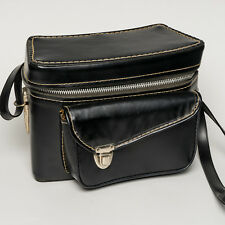 Vintage Presto Black Rangefinder Hard-Sided Camera Shoulder Bag