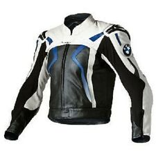 MEN'S BMW MOTORCYCLE COWHIDE LEATHER JACKET MOTORBIKE LEATHER JACKET ALL-SIZE