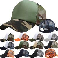 Trucker Cap Mesh Hat Snapback Cap Summer Hat CAMO Casual Baseball